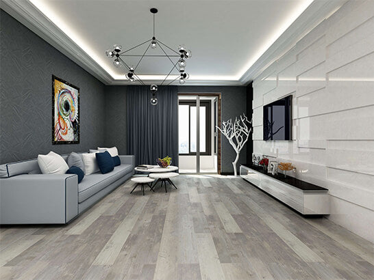 Impervia Mid Grey Toned Oak Luxury Vinyl Flooring