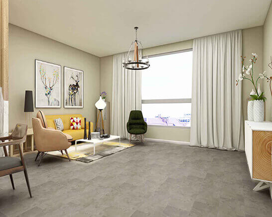 Impervia Motteld Grey Tiles Luxury Vinyl Flooring