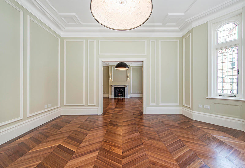 Walnut Chevron Flooring 1