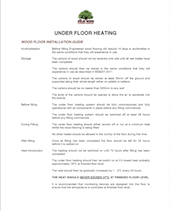 underfloor heating basic guide
