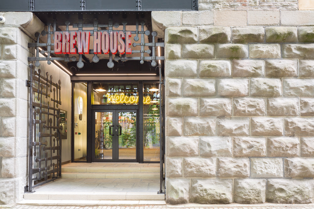 The front entrance of the Brewhouse