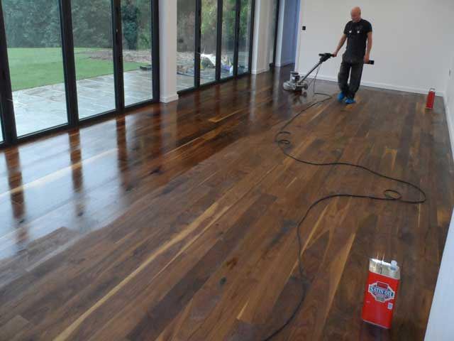 oiled flooring with added satin oil