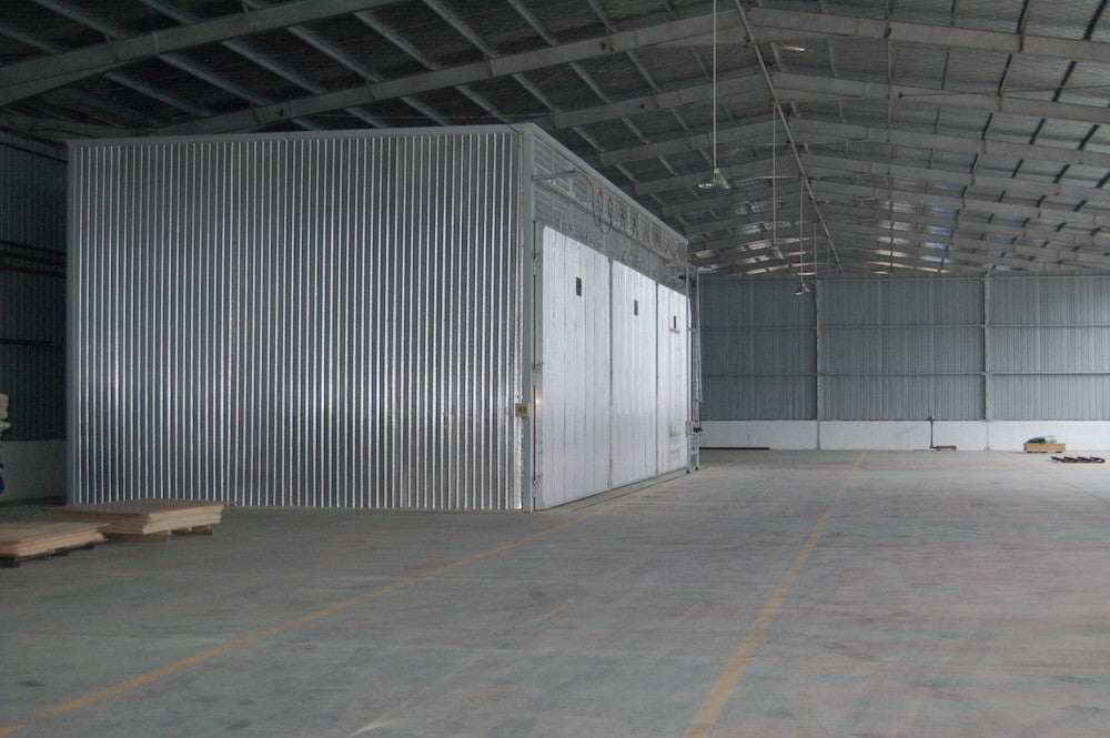 Massive room used for drying and balancing