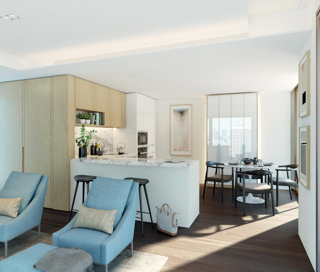 Southbank Concept with wood flooring