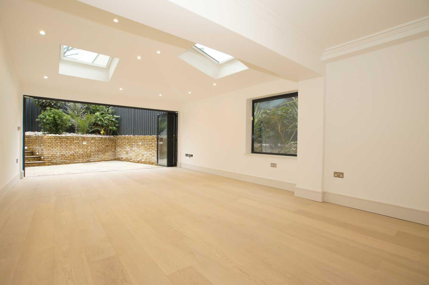 Select Grade White Coloured Oak Flooring Lacquered Finish