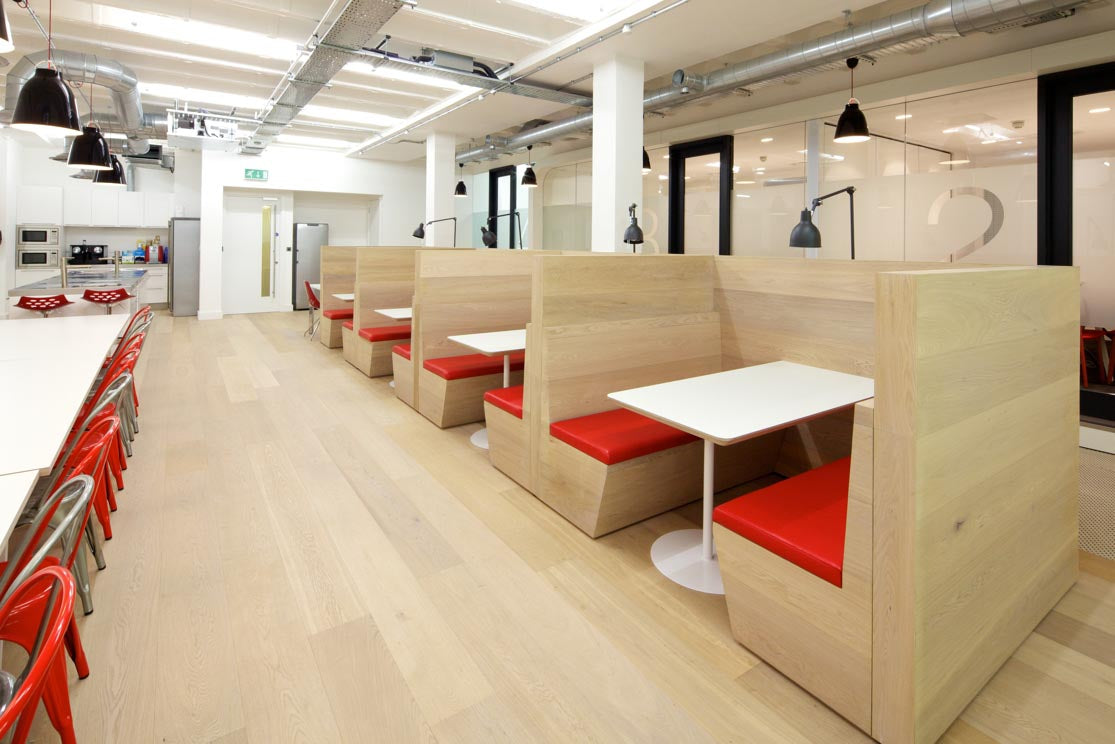 canteen with wooden flooring