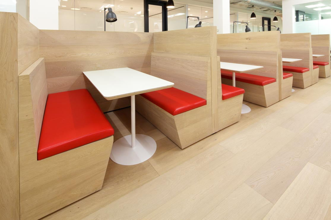 White Oak flooring in a canteen