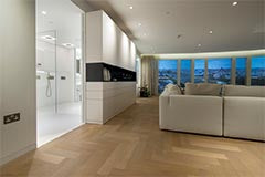 Wood flooring in high-end London apartment