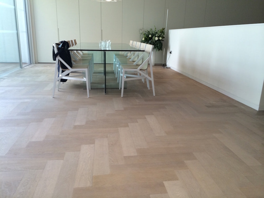 Oak Parquet Block in dining room