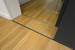 wood flooring around sliding doors