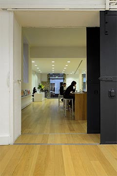 example of wood floors for sliding doors
