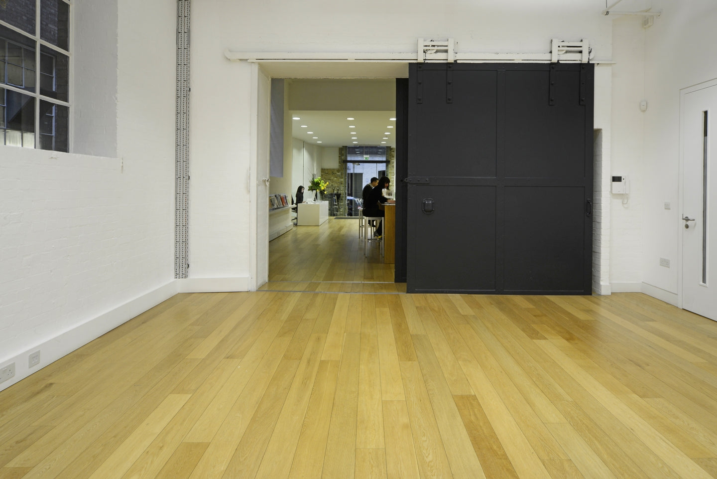 Prime Bona Lacquered Oak Flooring in KPF Reception