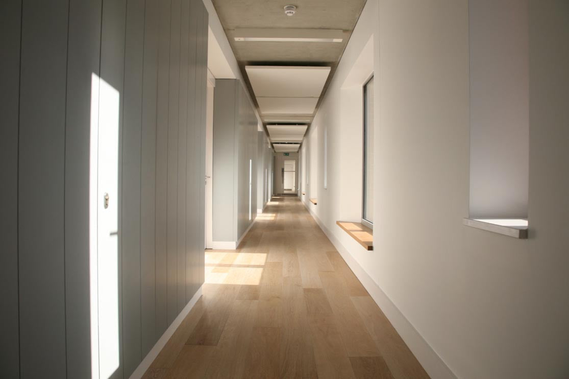 Brushed Limed Oak Flooring at College