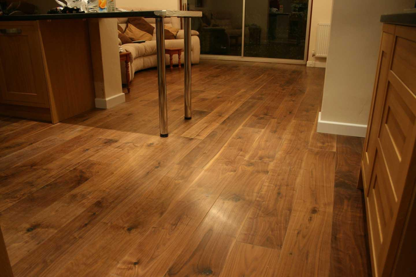 Black American Walnut Flooring Oiled Finish