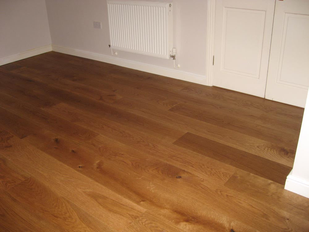 Walnut Coloured Brushed Oak Flooring