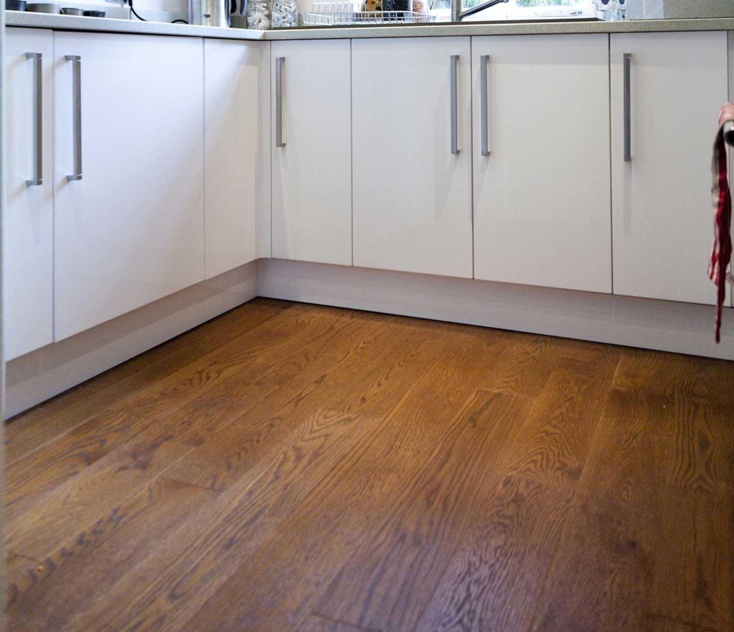 Brushed Smoked Oak Flooring UV Oiled