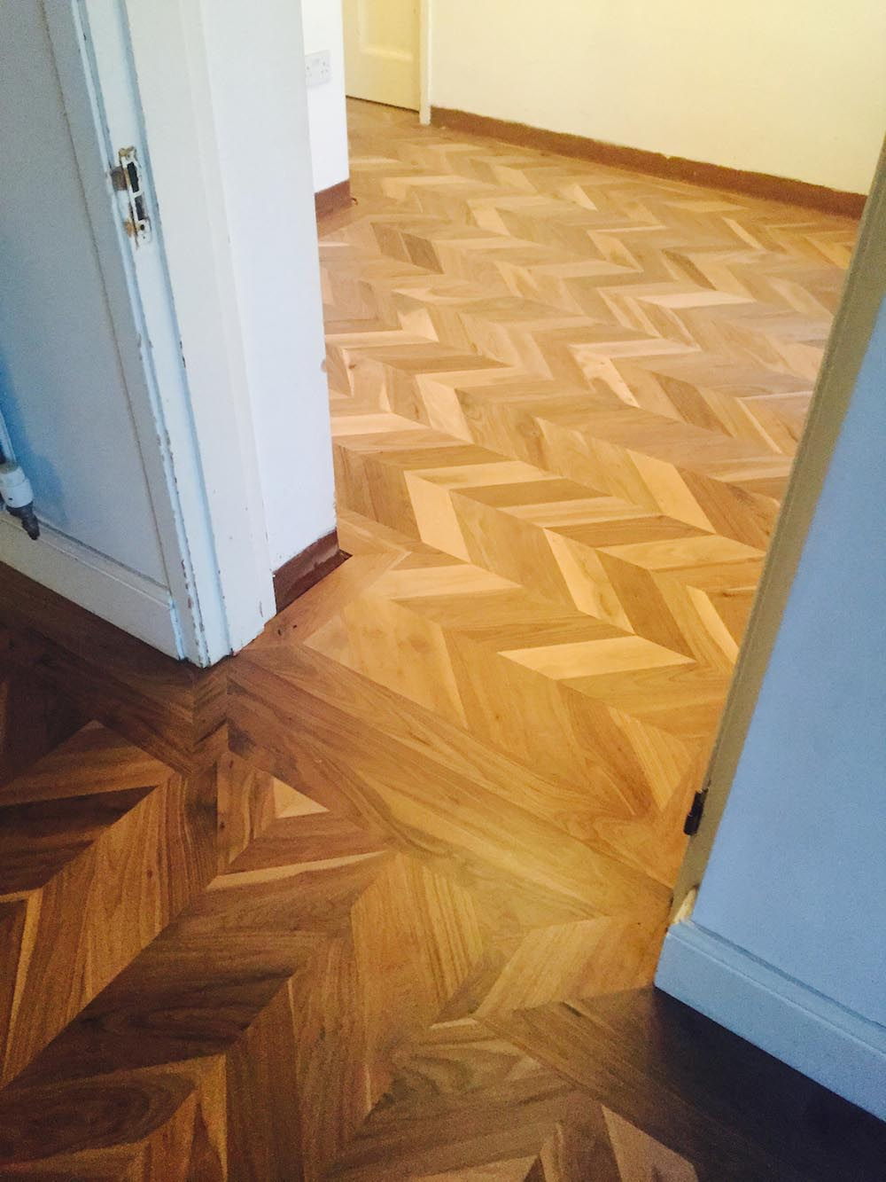 E932 Walnut Chevron in a house