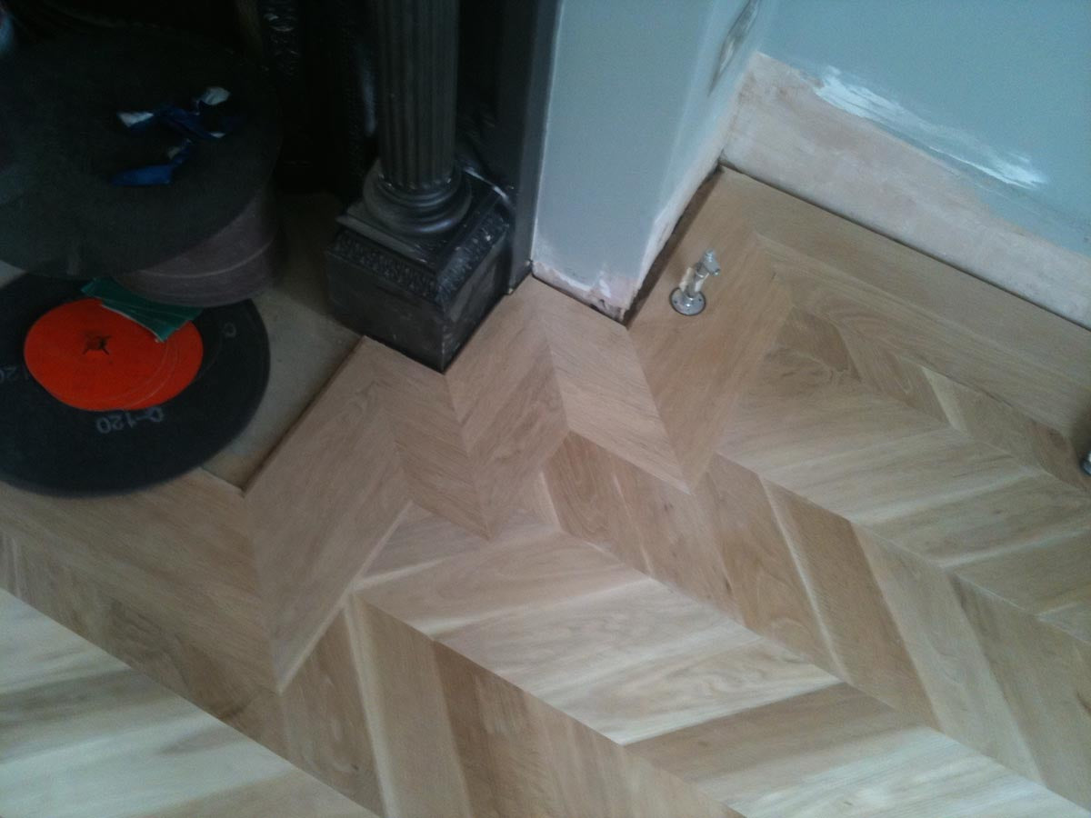 London house fitted with parquet flooring