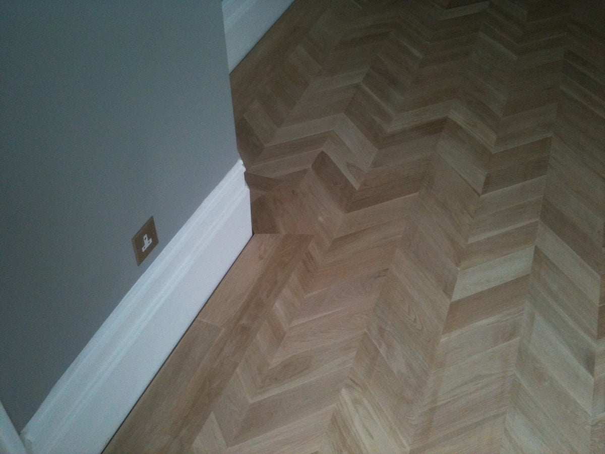 Parquet wood flooring in London home