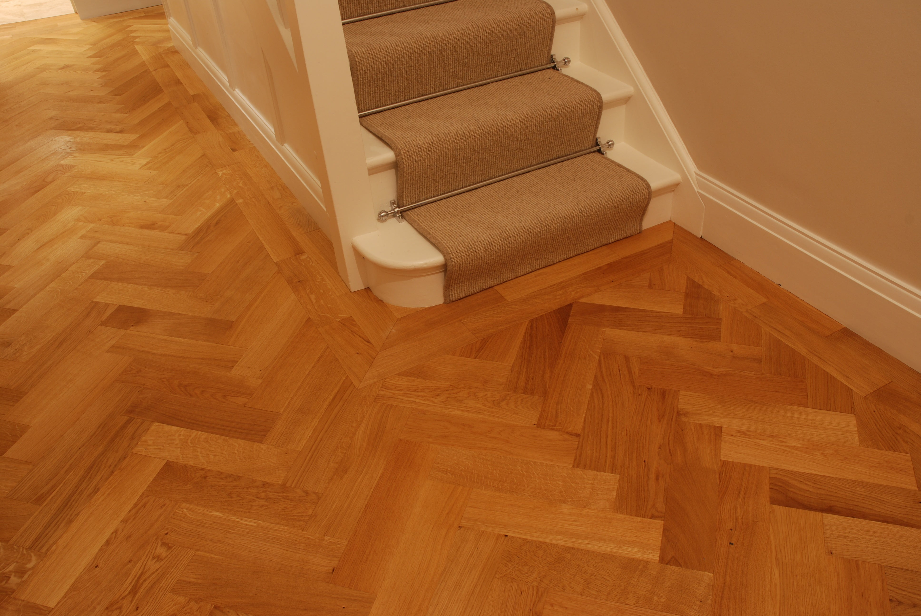 overlay parquet around staircase