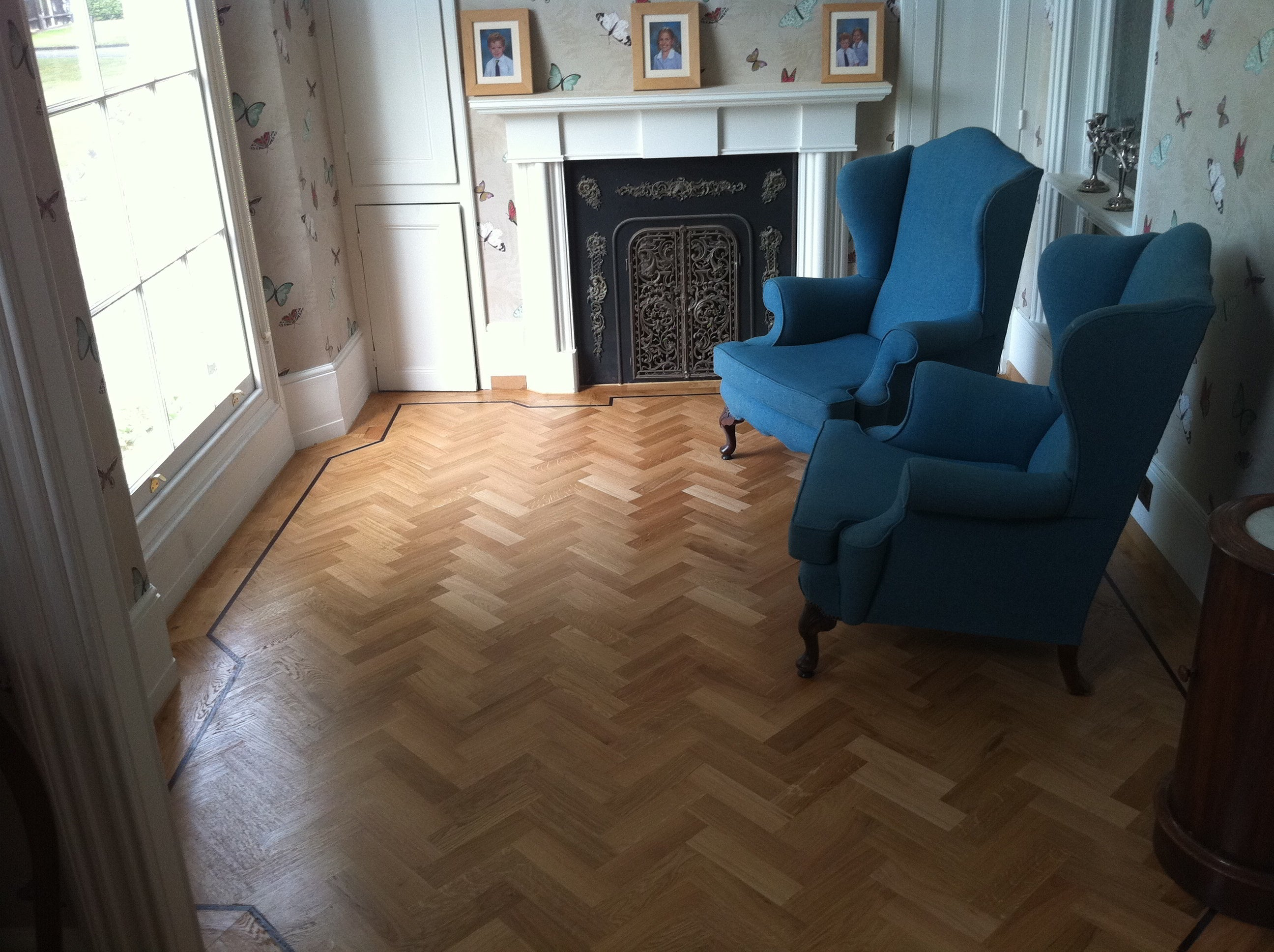 parquet flooring in traditional room