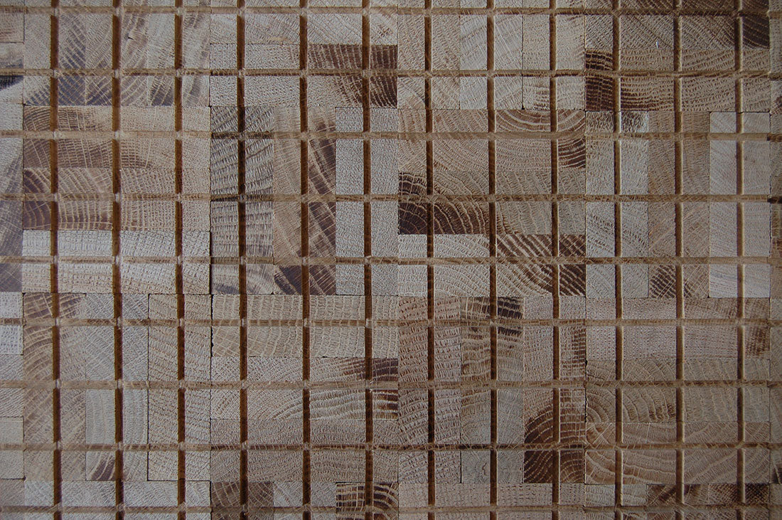 Bottom Surface of Mosaic End Grain Block