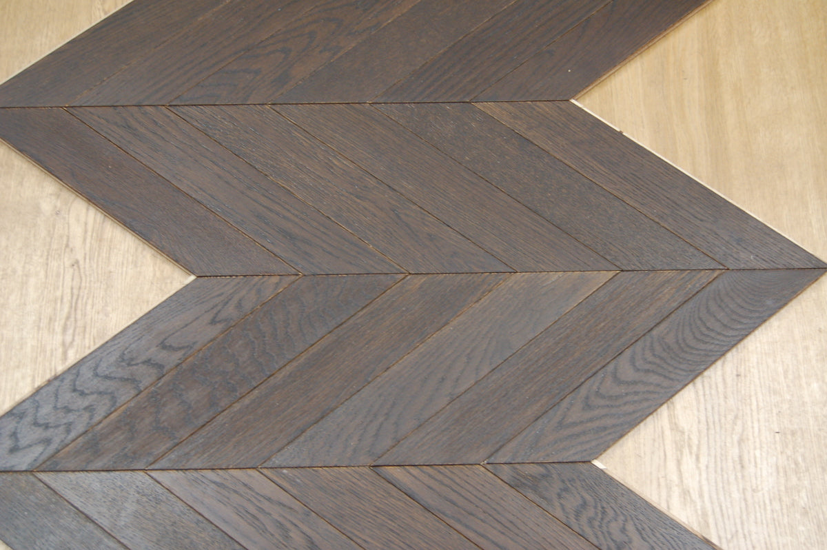 bespoke wood flooring chevron block