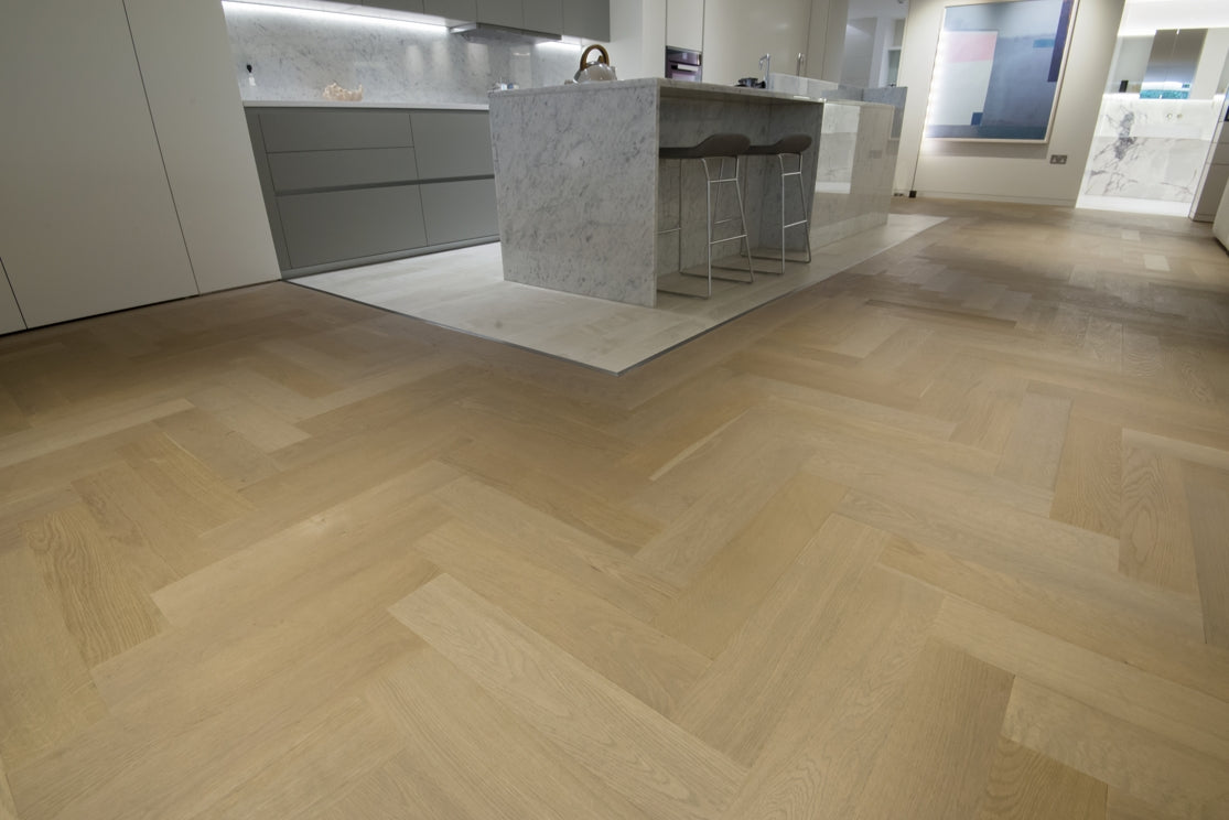 An example of Herringbone Parquet Flooring