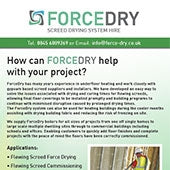 How can FORCEDRY help with your project?
