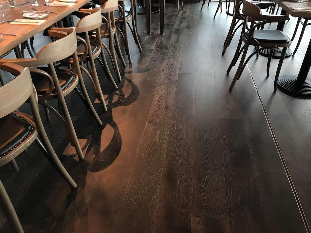 Fumed Engineered Wood Flooring - Restaurant 2