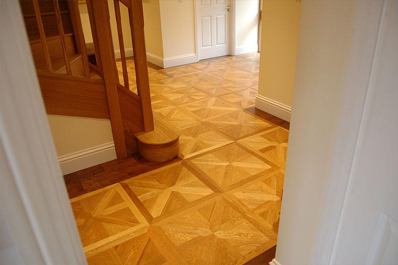 bright parquet flooring in country home