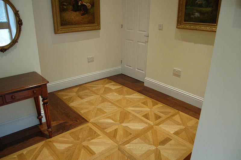 parquet flooring with a border of Walnut