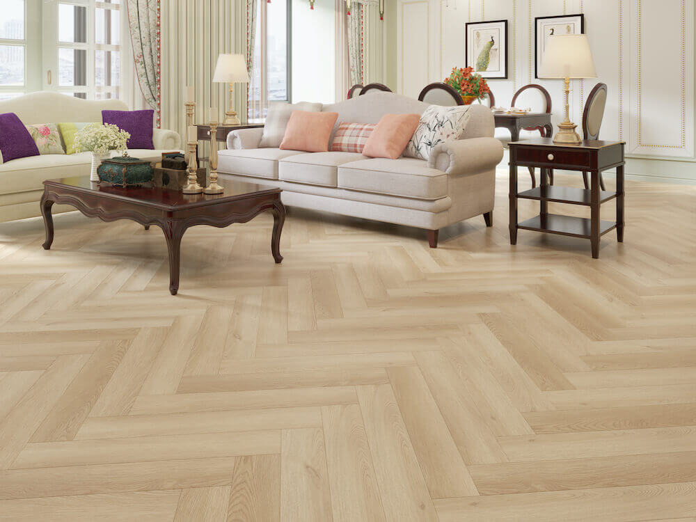 Impervia Herringbone Parquet Bare Timber