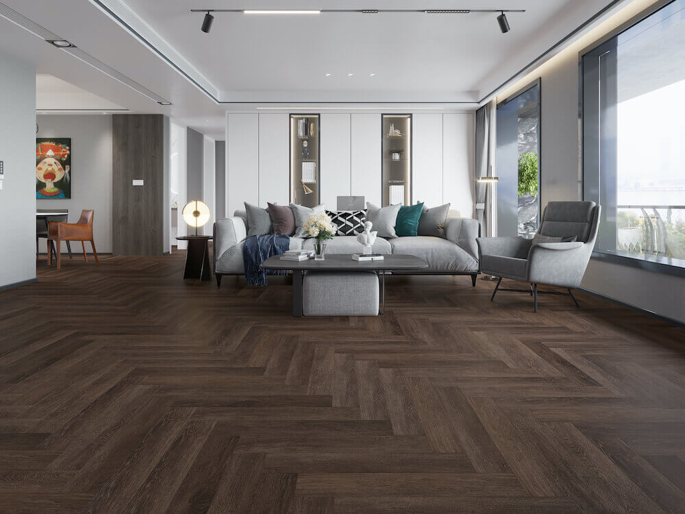 Impervia Herringbone Parquet Impervia Smoked Oak