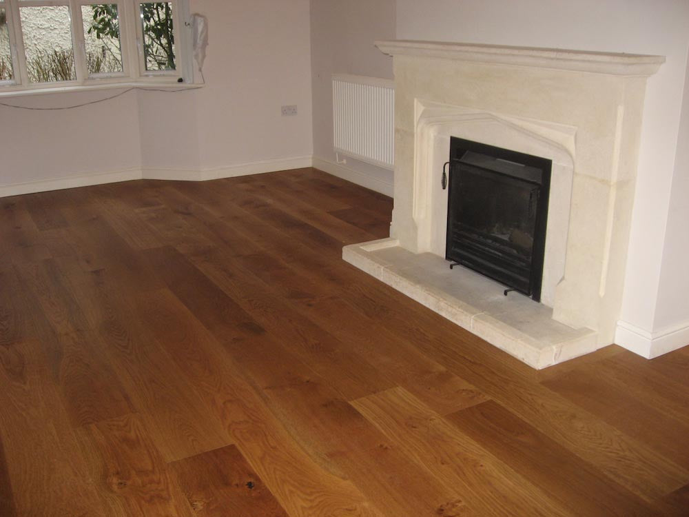 Walnut Coloured Brushed Oak Flooring in Family Home
