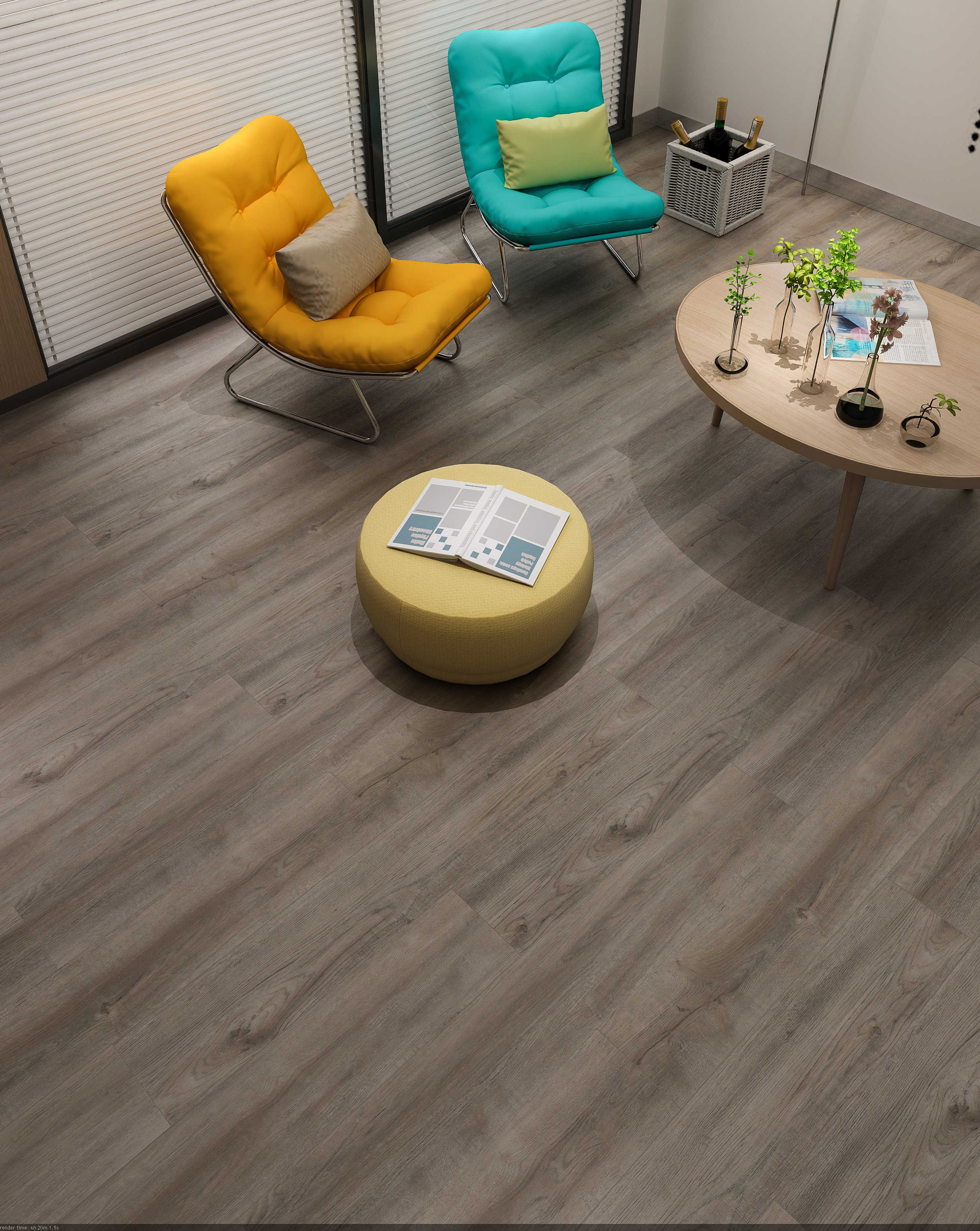 Impervia Commercial Light Fumedordinary Oak Luxury Vinyl Flooring