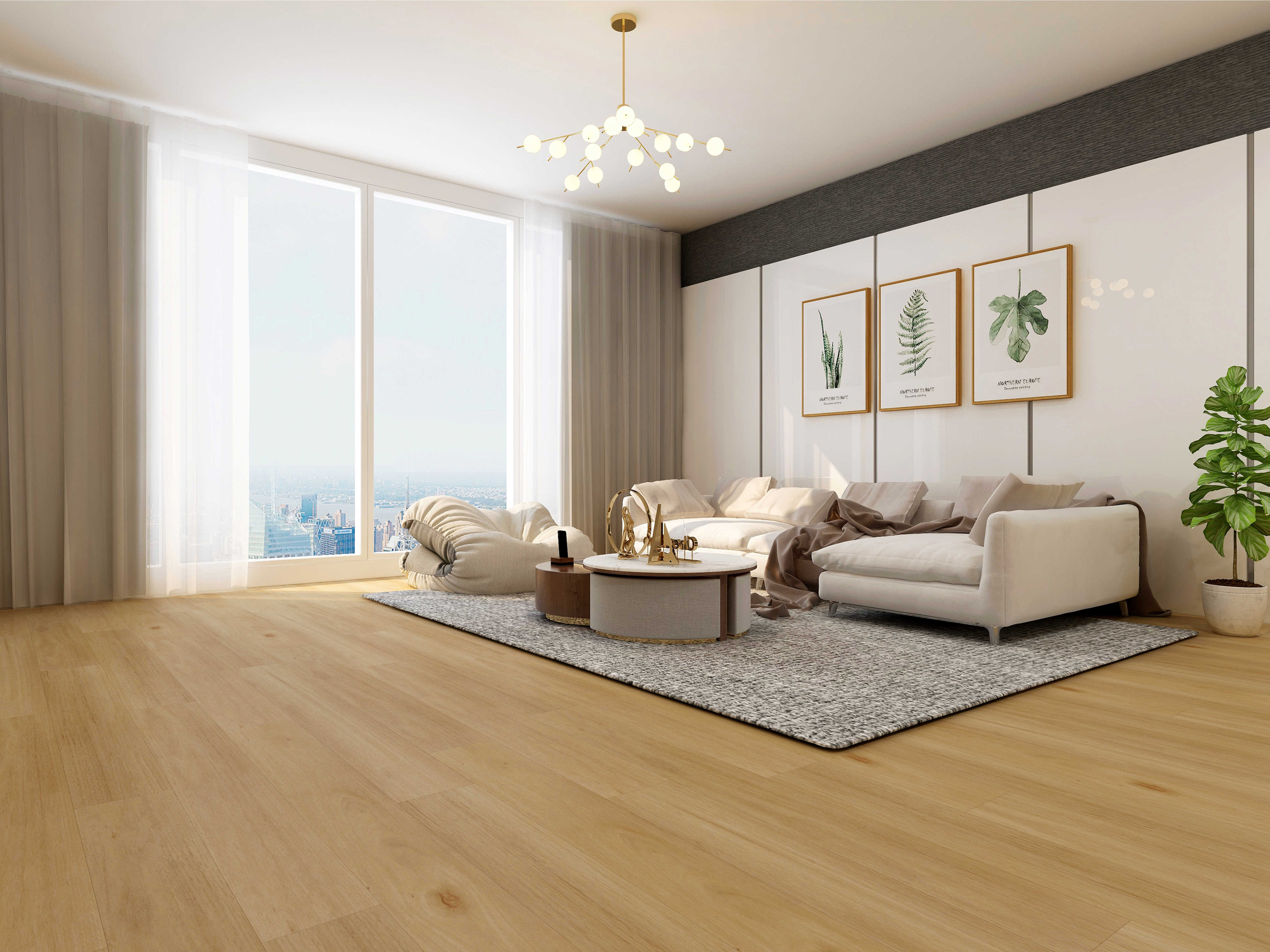 Impervia Light white Oak luxury Vinyl Flooring
