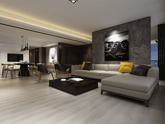 Impervia Snow White Oak luxury Vinyl Flooring