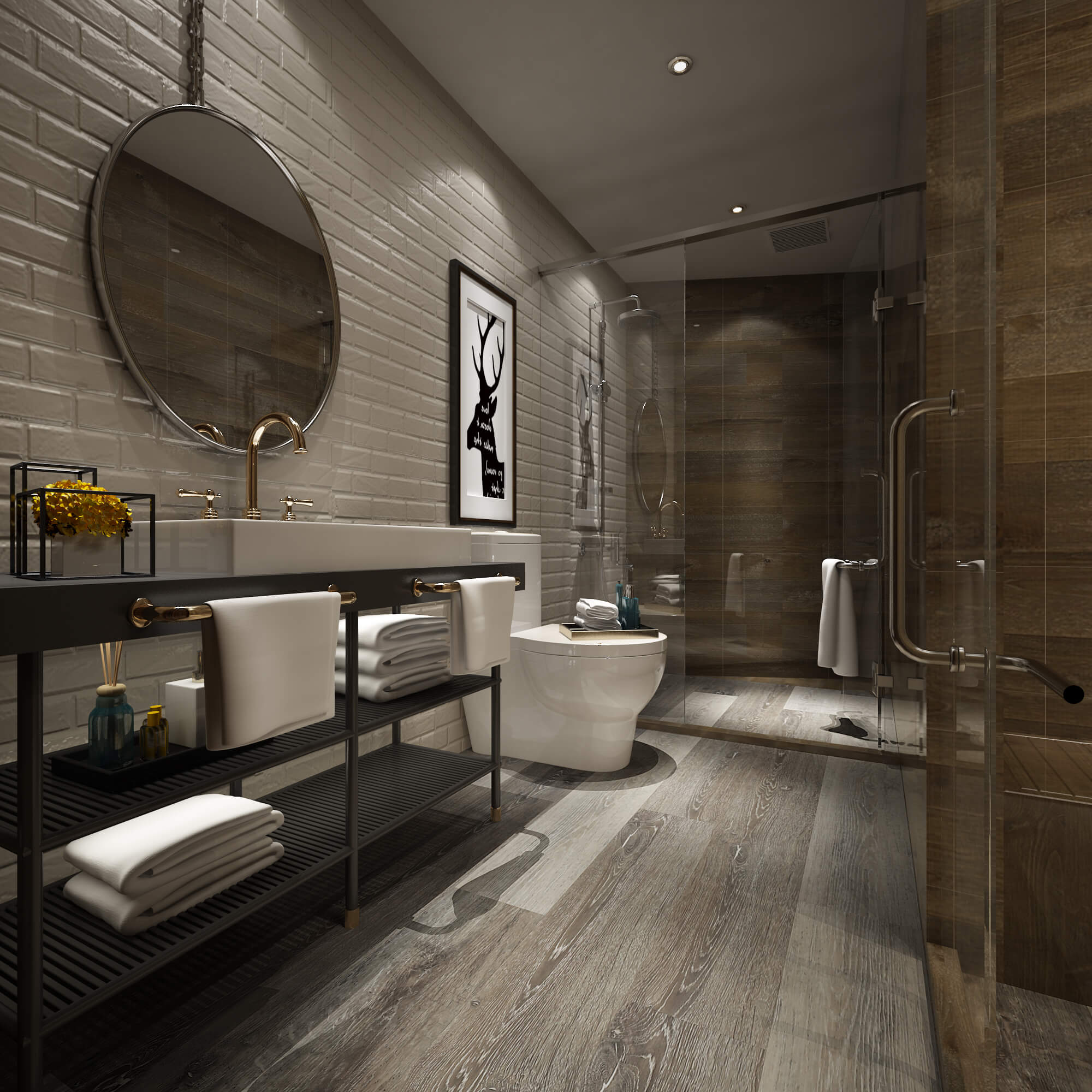 Impervia Bathroom Limed Fumed Grey Oak Luxury Vinyl Flooring