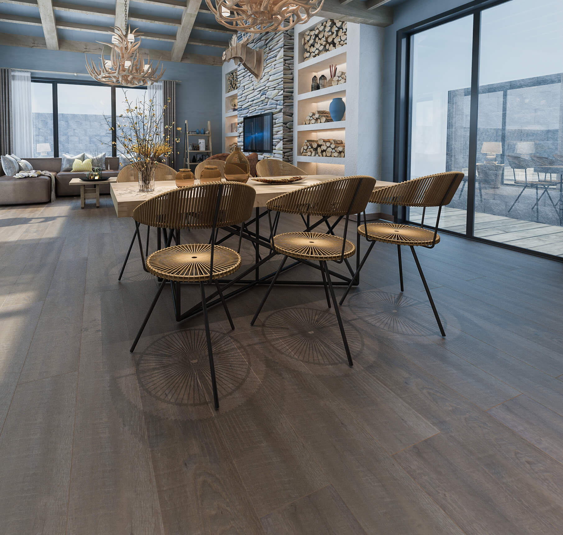 Impervia Commercial Cappucino Oak Luxury Vinyl Flooring