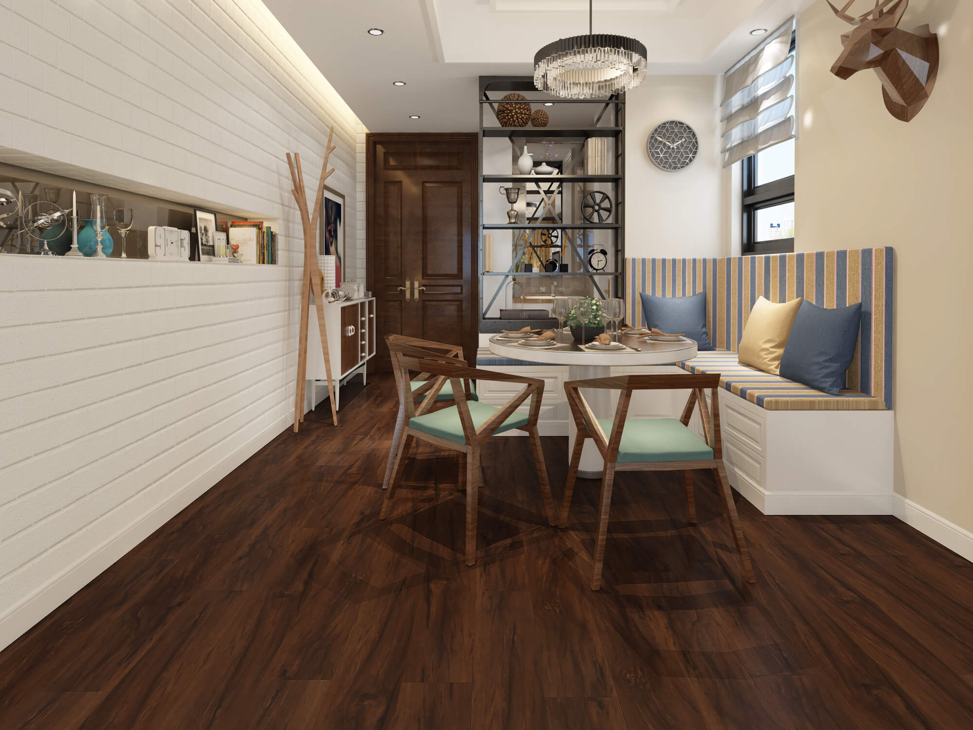 Impervia Commercial Dark Smoked Oak Luxury Vinyl Flooring