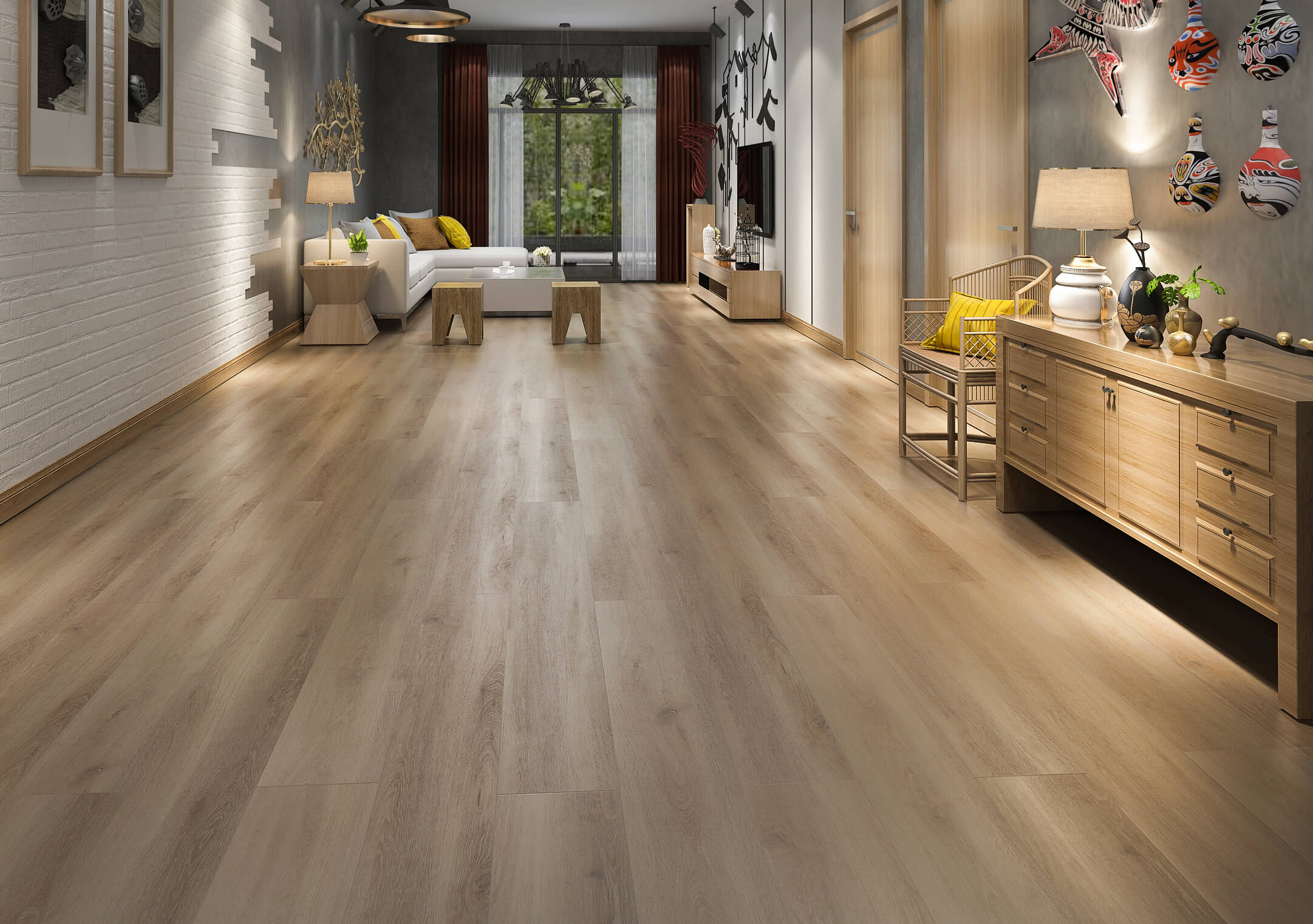 Impervia Commercial European mid Oak Luxury Vinyl Flooring