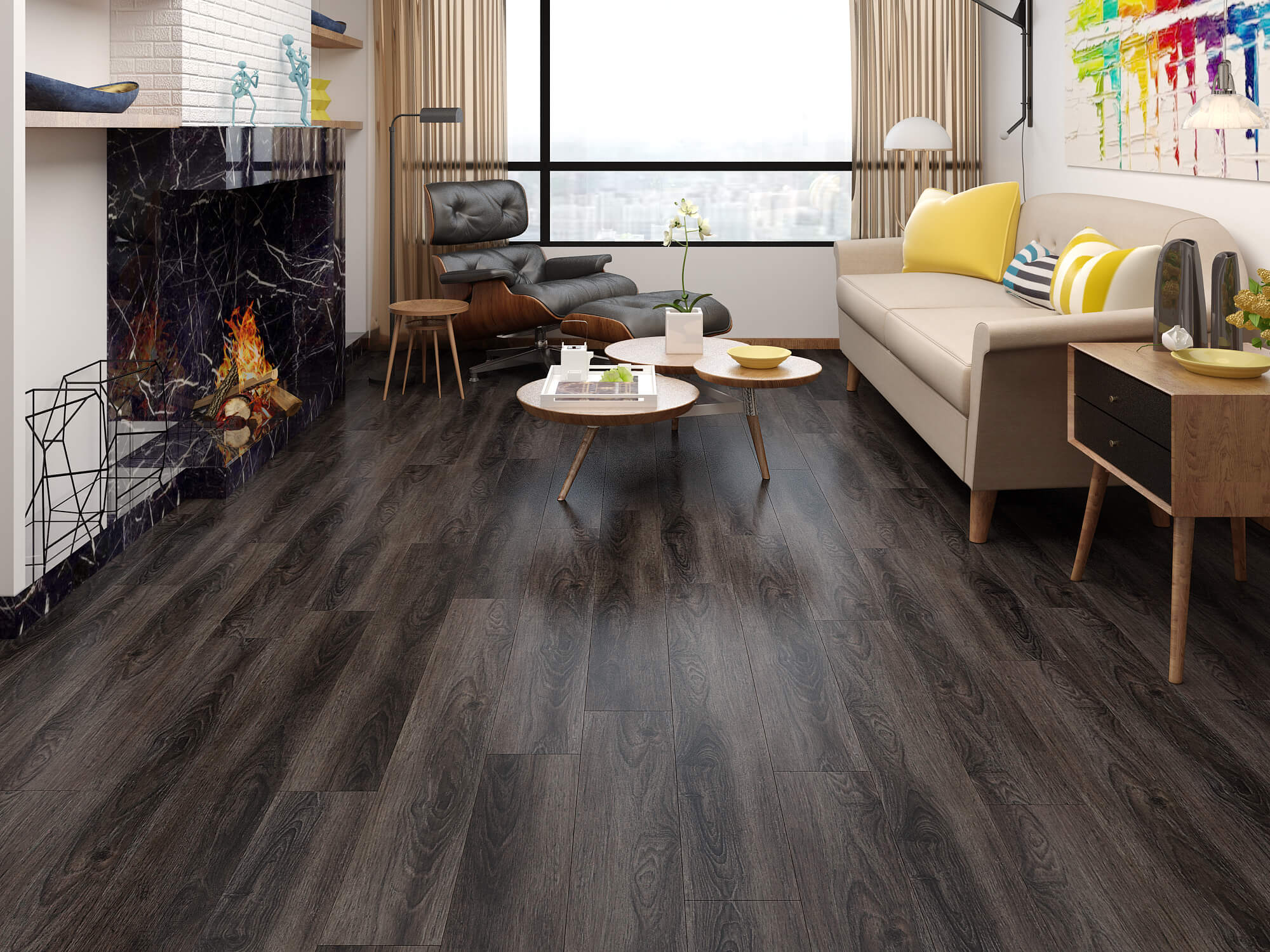 Impervia Commercial Expresso Oak Luxury Vinyl Flooring
