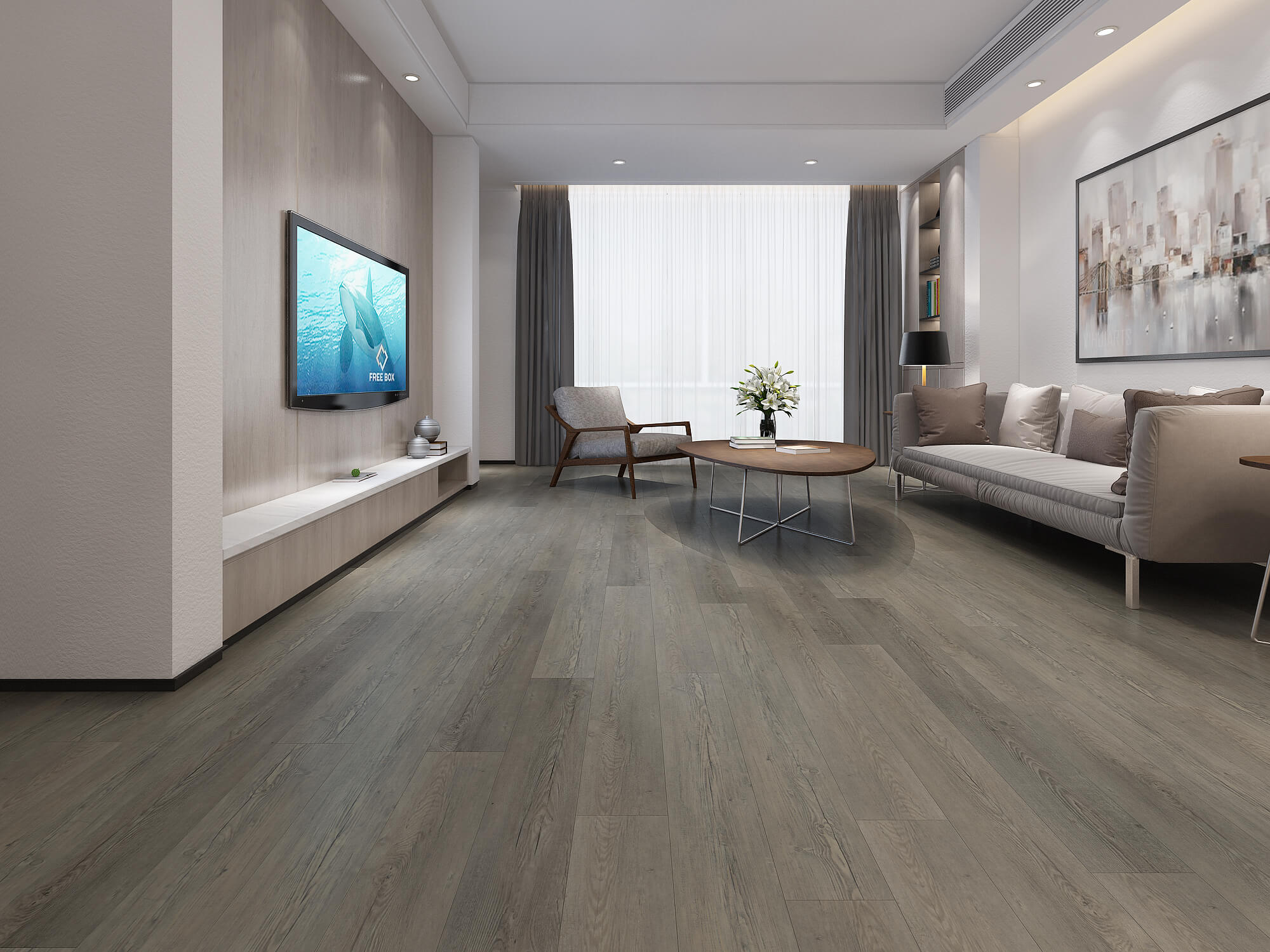 Impervia Commercial Mid Fumed Oak Luxury Vinyl Flooring