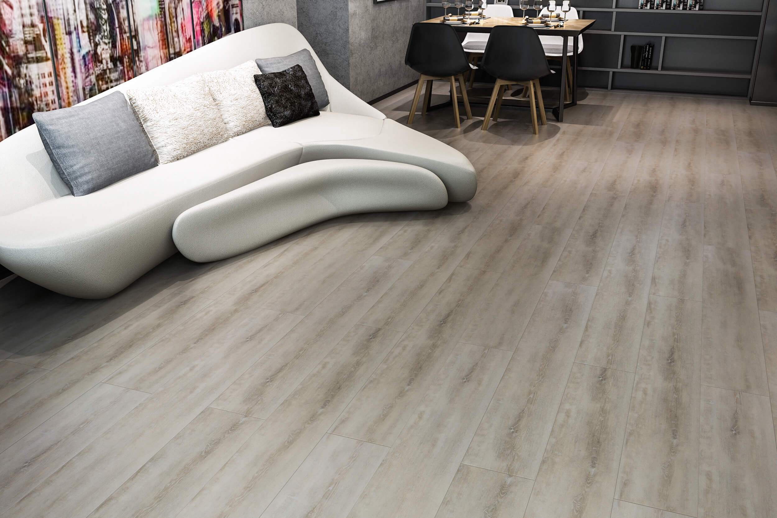 Impervia Commercial Mixed Sand Oak Luxury Vinyl Flooring