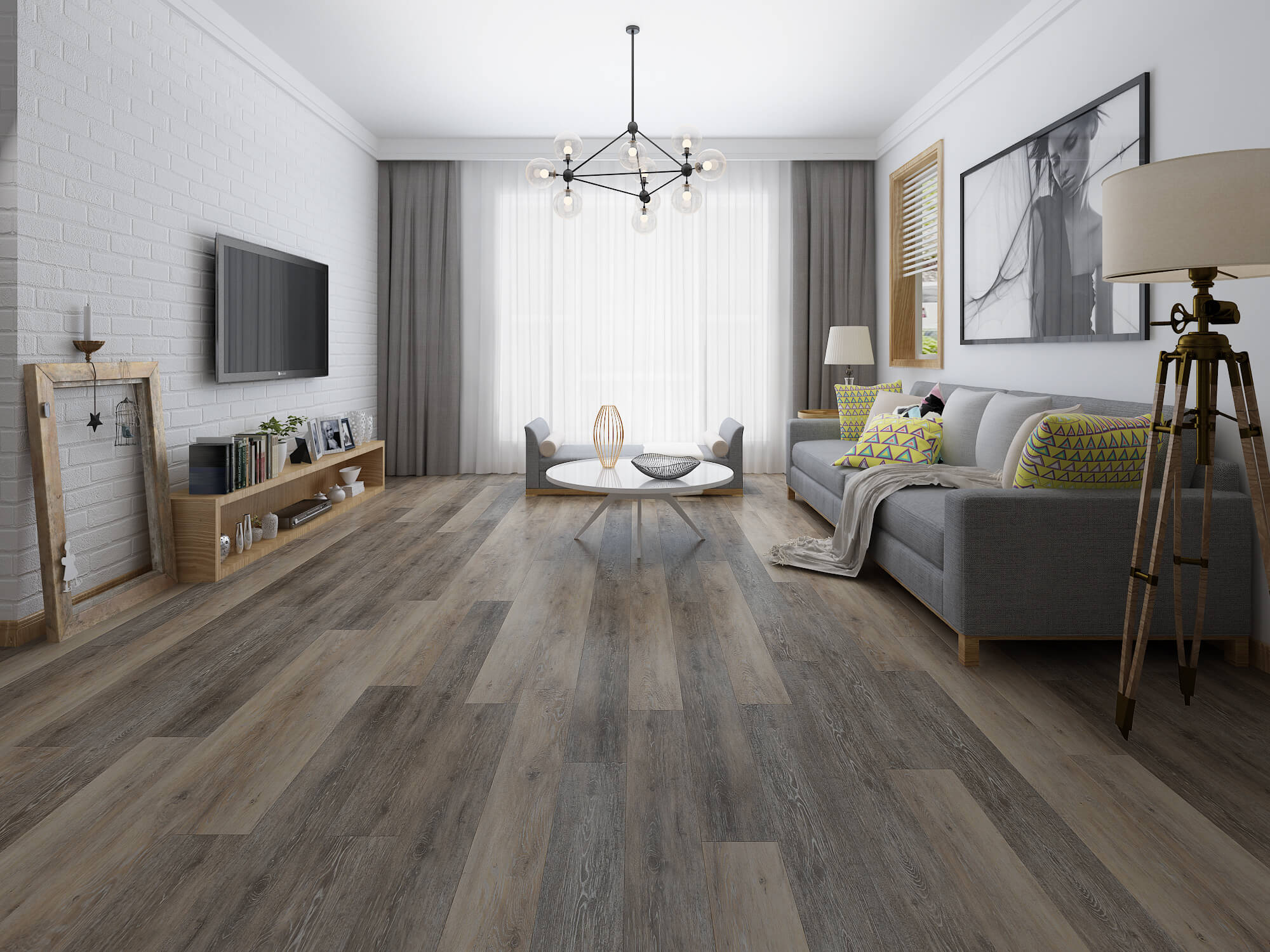 Impervia Commercial Salted Pepper Oak Luxury Vinyl Flooring