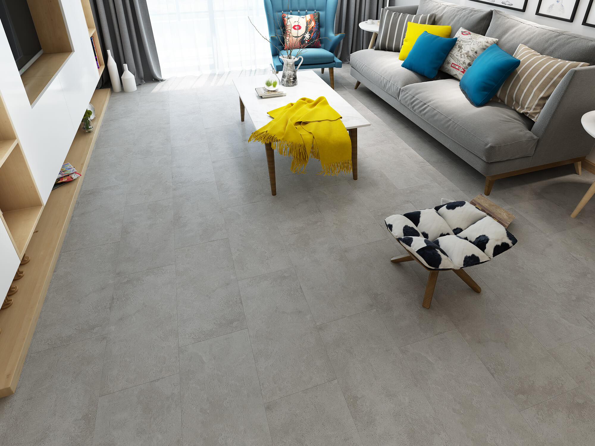 Impervia Commercial Titanium Grey Oak Luxury Vinyl Flooring