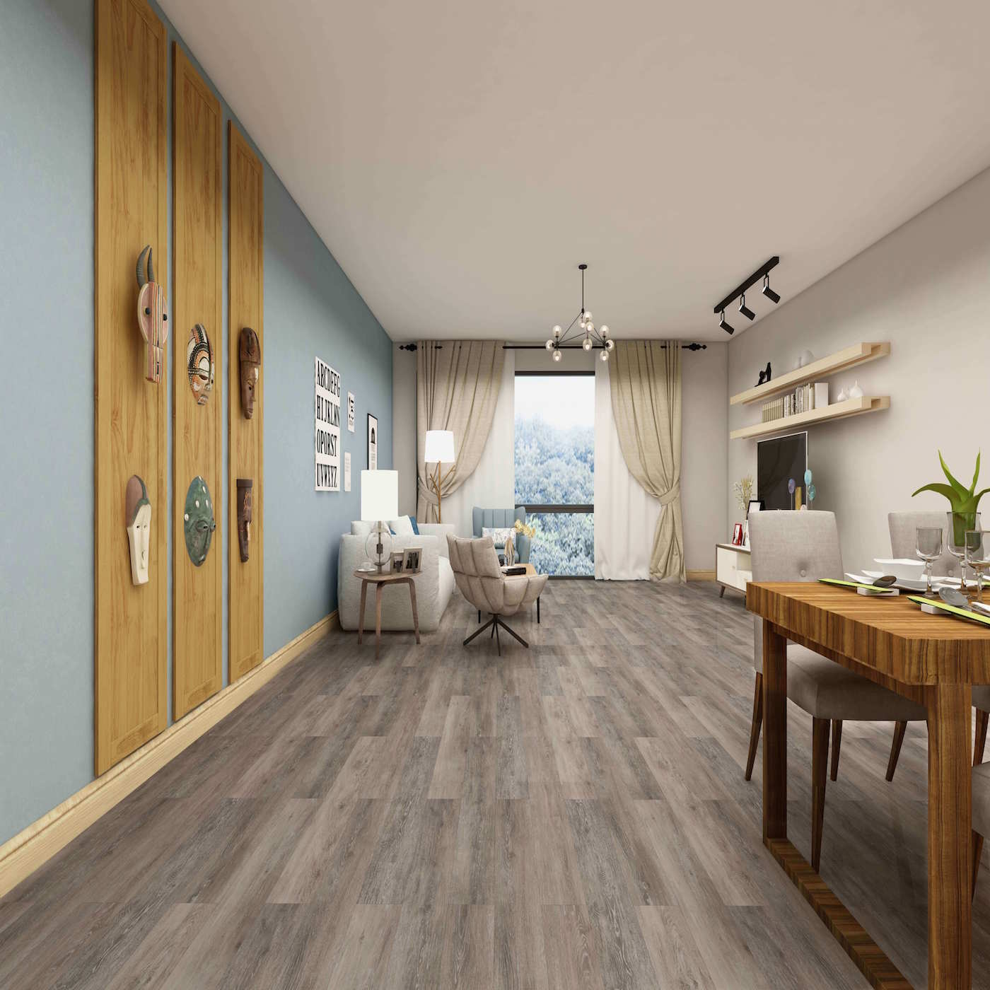 Impervia Commercial Wild Grey Oak Luxury Vinyl Flooring