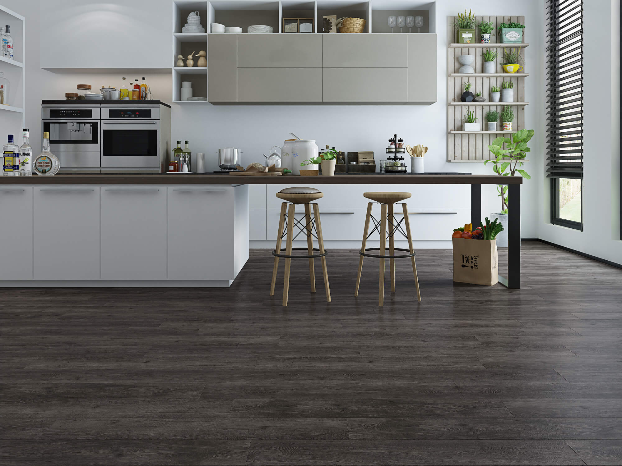Impervia Dark Coffee Oak Luxury Vinyl Flooring