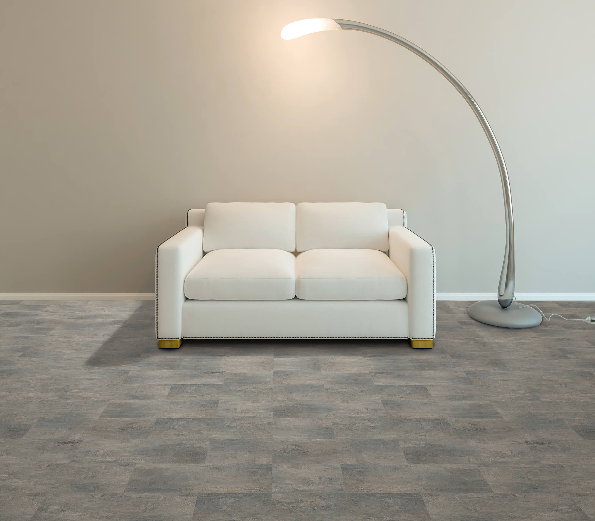 Impervia Grey Stone SPC Luxury Vinyl Tile